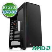 技嘉B450平台【無邊狼煙】Ryzen八核GTX1070-8G獨顯SSD240G效能電腦