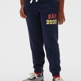 Gap男童徽標LOGO鬆緊腰束口休閒褲520299-海軍藍