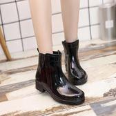 週年慶優惠-女士低筒雨鞋女短筒夏季水鞋女成人雨靴時尚膠鞋防滑套鞋韓版