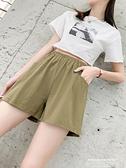 棉麻五分褲 棉麻短褲女春夏季2021新款顯瘦大碼寬鬆休閒闊腿學生運動五分褲 新品