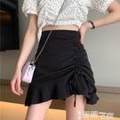 魚尾裙 黑色魚尾半身裙女夏季設計感2021新款高腰a字包臀短裙顯瘦裙子ins 【99免運】