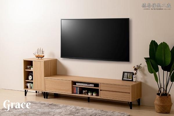 D&T 德泰傢俱 GRACE 北歐栓木6尺電視櫃 B001-587
