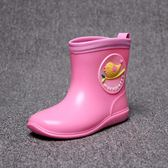 兒童短筒雨鞋雨鞋防滑男女童小鳥水鞋小童幼兒便輕雨靴