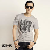 【BTIS】中性款圓領T-shirt / 麻灰色