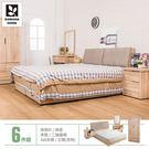床架 房間組合 原創外宿耐磨5尺房間組-6件組/ 16048-5+154【多瓦娜】