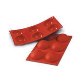義大利進口《Silikomart》6連半球型矽膠模/冰模/30.002.00.0060