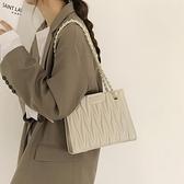 側背包 大容量包包女2021新款潮網紅韓版菱格鏈條包高級感包包百搭托特包【快速出貨八折搶購】