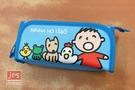 Minna no Tabo 大寶 摺疊筆袋 好朋友 淡藍 KRT-216157