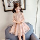 女童連衣裙2019春裝新款 韓版小女孩洋氣公主裙蕾絲紗裙 兒童裙子『櫻花小屋』