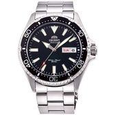 【台南 時代鐘錶 ORIENT】東方錶 RA-AA0001B MAKO III系列兩百米潛水機械錶 黑/銀 42mm