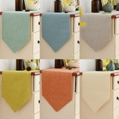 促銷桌巾素色桌旗現代簡約中美式北歐電視櫃鞋櫃蓋布餐桌裝飾布長條床尾巾 宜室