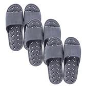 (組)緩壓排水浴室拖鞋灰藍Lx2+XLx1