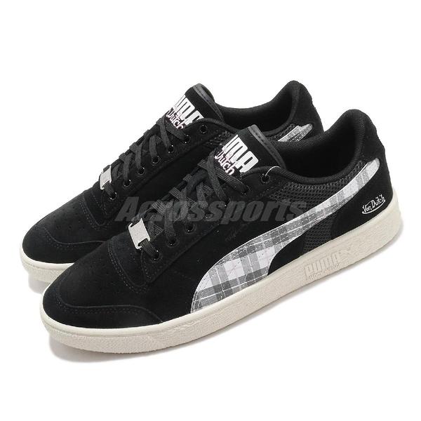 Puma 休閒鞋 Ralph Sampson Von Dutch 黑 格紋 聯名 男鞋 女鞋【ACS】 37374801