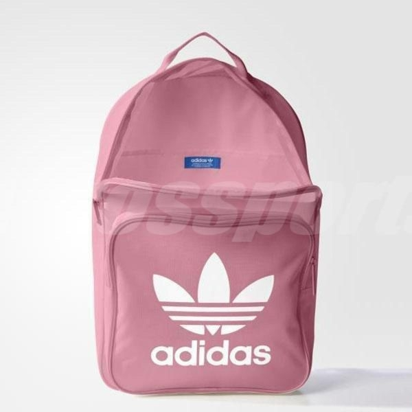 adidas 後背包 Tricot Classic Backpack 三葉草 Logo 女款 包包 基本款 粉紅 / 黑白【PUMP306】