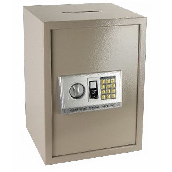 中華批發網:HWS-HD-4427-【投入型】三鋼牙 電子式(雙鑰匙才能開)保險箱-大型/金庫