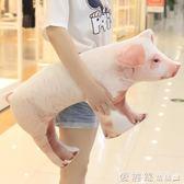 搞怪創意仿真母豬抱枕毛絨玩具女生娃娃靠枕小豬公仔生日禮物 【老闆大折扣】LX