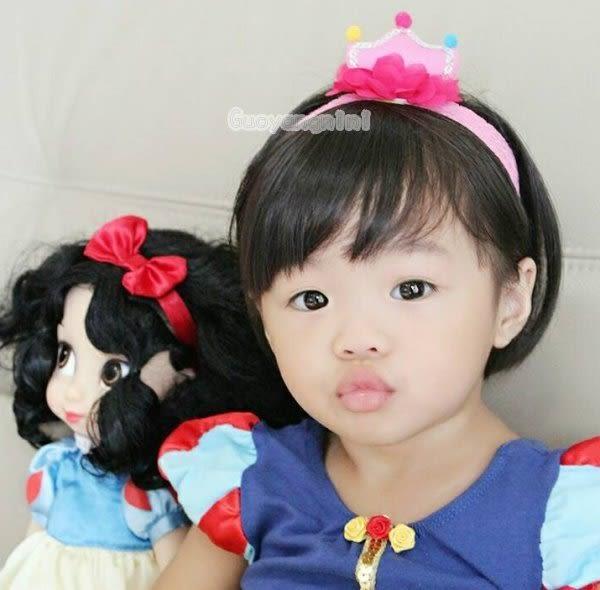 手工髮帶 蕾絲花朵皇冠款兒童 寶寶 嬰兒 彈性髮帶 拍照 彌月 寫真 頭帶  果漾妮妮【P3953】