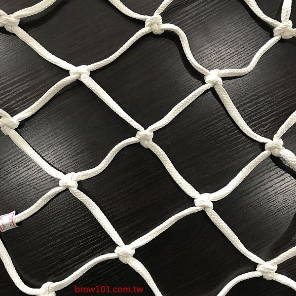 【本富地墊專家】白色特多龍耐燃款【線徑7mm孔徑10cm】安全網-防墜網-防護網-天井網-樓梯網