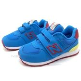 《7+1童鞋》New Balance IV574TDP 彩虹渲染 574系列 復古皮革 運動慢跑鞋 9532 藍色