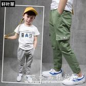 男童褲子款兒童長褲男中大童寬鬆休閒褲夏季薄款潮『CR水晶鞋坊』