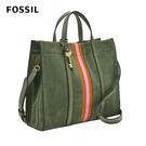 FOSSIL CARMEN 麂皮兩用手提包-橄欖綠 ZB6505355