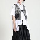 日系設計感復古緹花心型口袋背心外套【13-15-82050-21】ibella 艾貝拉