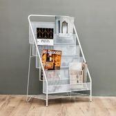 北歐鐵藝創意簡約時尚移動書架辦公室客廳落地雜志架收納架    SQ10724『寶貝兒童裝』TW