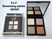 【愛來客 】美國ELF彩妝e.l.f. Illuminating Palette 4色高光提亮打亮修容盤#83329