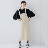 吊帶洋裝-純色寬鬆休閒棉質連身裙2色73xm41[時尚巴黎]