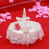 婚禮花童撒花小花籃撒花瓣花籃