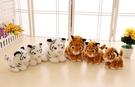 【16公分】仿真毛茸茸小老虎 玩偶 絨毛娃娃 聖誕節交換禮物 教室布置 畢業禮物