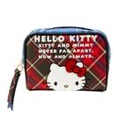 【震撼精品百貨】Hello Kitty_凱蒂貓-三麗鷗Hello Kitty 2020~紀念化妝包-格子*12555