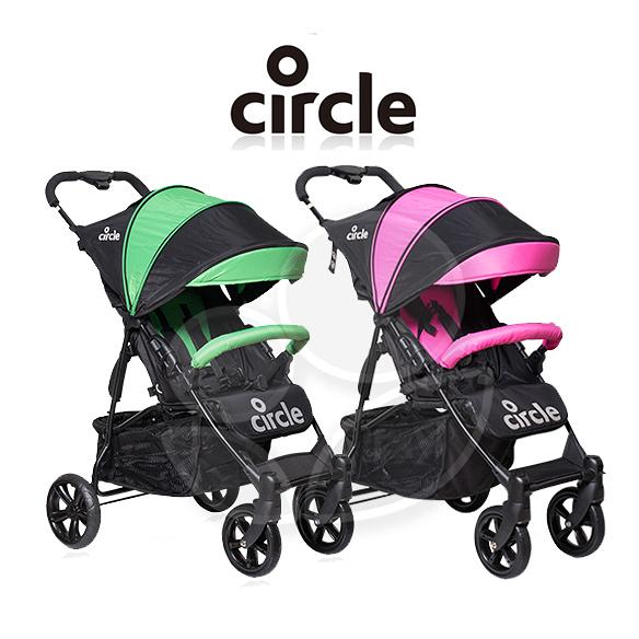 Circle Treviso 4S手推車(粉/綠)【佳兒園婦幼館】