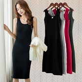 背心裙 2021春季新款黑色性感長款吊帶背心連身裙休閒顯瘦無袖內搭小黑裙 伊蘿 99免運