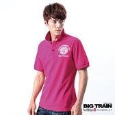 BIG TRAIN 龍騰POLO衫-男-桃紅