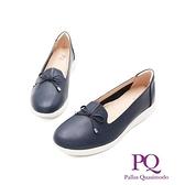 【南紡購物中心】PQ(女)小岔口蝴蝶款前高後高休閒鞋 女鞋-深藍(另有米白)