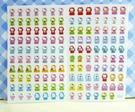 【震撼精品百貨】Hello Kitty 凱蒂貓~KITTY貼紙-心情貼紙-彩色(藍旋轉木馬)