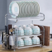 廚房置物架用品餐具收納盒盤子碗收納架架碗櫃碗碟瀝水碗架廚房小明同學
