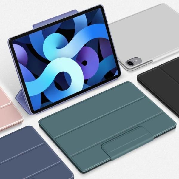 適用Apple蘋果iPad Air4 10.9英吋2020新款平板電腦Air4代保護套 超薄 雙面磁吸皮套 筆袋搭扣