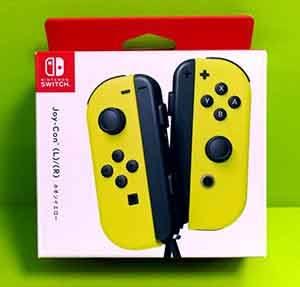 [106玉山最低比價網] 公司貨)任天堂 Switch主機 NS Joy-Con 左右手控制器+LR腕帶 黃色手把