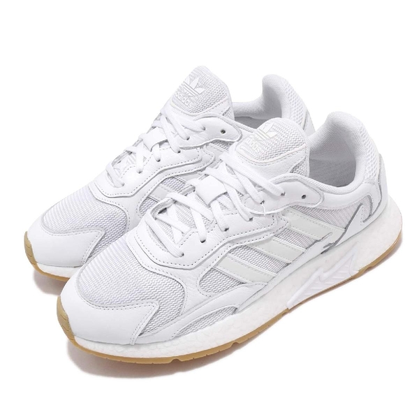 adidas 休閒慢跑鞋 Tresc Run 白 膠底 男鞋 明星款 BOOST 男鞋 【PUMP306】 EF8102