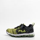 FILA  兒童慢跑鞋-黑/綠 3-J808S-909