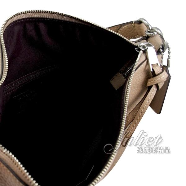 茱麗葉精品【專櫃款 全新現貨】COACH 93811 Shay 牛皮肩斜兩用彎月包.駝 大