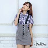 Victoria 灰色吊帶短裙-女-灰色