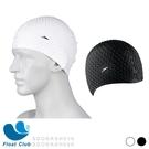 【Speedo】成人款矽膠泡泡泳帽 Bubble 黑/白 SD8709290003