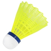 12只裝塑料羽毛球耐打黃色白色訓練球