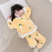 女童睡衣套裝冬裝保暖加厚兒童家居服韓版【聚可愛】