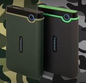 創見 1TB 外接硬碟 StoreJet 25M3 Transcend 2.5吋 TS1TSJ25M3 鐵灰色/軍綠色