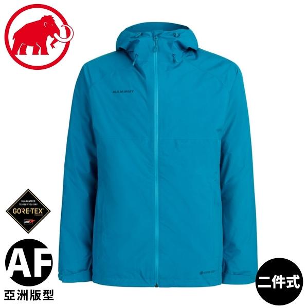 【MAMMUT 長毛象 男 二件式防風防水羽絨外套《藍寶石/藍影》】1010-27410/羽絨衣