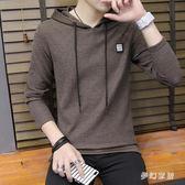 中大尺碼T恤男長袖韓版連帽修身帥氣薄款上衣sd3380『夢幻家居』